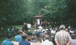 Nice country-style wedding in the gazebo